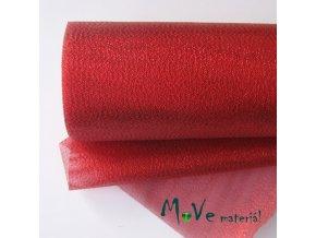 Řezaná stuha s lurexem červená, 15cm, 1m