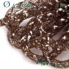 Modistická dutinka s lurexem 4,5mm, 1m, hnědá