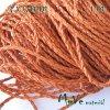 Splétaná šňůrka z umělé kůže, 1m, oranžová