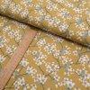 Bavlněné plátno - sakura na světle hořčicové - šíře 150cm/1bm