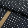 Bavlněné plátno - černo bílý puntík - šíře 150cm/1bm