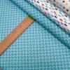 Bavlněné plátno - Šupinka aqua - šíře 160cm/1bm