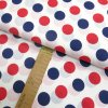 Bavlněné plátno - Puntíky modré a červené na bílé - šíře 160cm/1bm