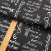Bavlněné plátno - Písmo bílé na černé - šíře 150cm/1bm