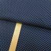 Úplet - Puntík bílý na tmavě modré - šíře 150cm/1bm