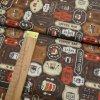Bavlněné plátno - Káva - hnědá, béžová, rezavá - šíře 140cm/1bm