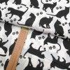 Bavlněné plátno - Kočky černé na bílé - šíře 160cm/1bm