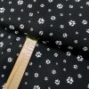Bavlněné plátno - Tlapky bílé na černé - šíře 150cm/1bm