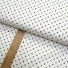 Bavlněné plátno - Puntík šedý na bílé - šíře 150cm/1bm