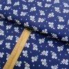 Bavlněné plátno - Květiny bílé na modré - šíře 150cm/1bm