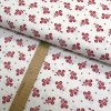 Bavlněné plátno - Květiny červené na bílé - šíře 150cm/1bm