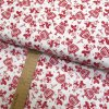 Bavlněné plátno - Ptáčci a panenky červené na bílé - šíře 150cm/1bm