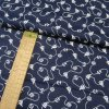 Bavlněné plátno - Lodě, kotvy bílé na tmavě modré - šíře 140cm/1bm