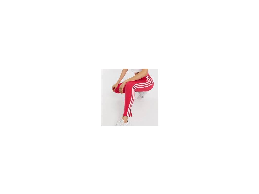 adidas tepláky růžovočervená