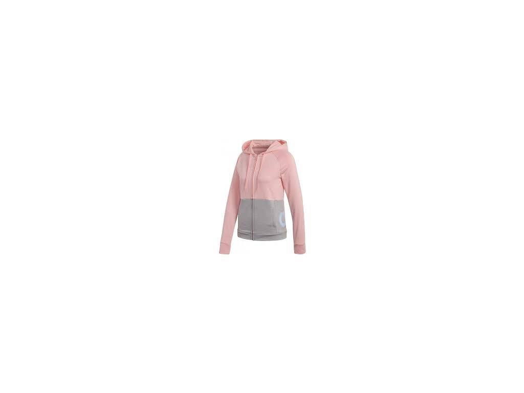 růžovo šedá mikina 39746025 WTS FT hood