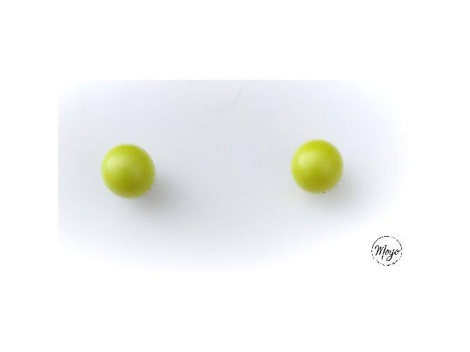 Náušnice perly - neonové