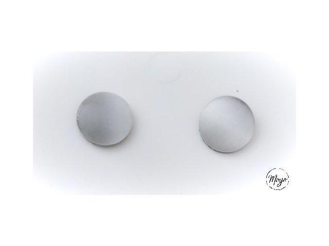 Náušnice kabošon - bílé