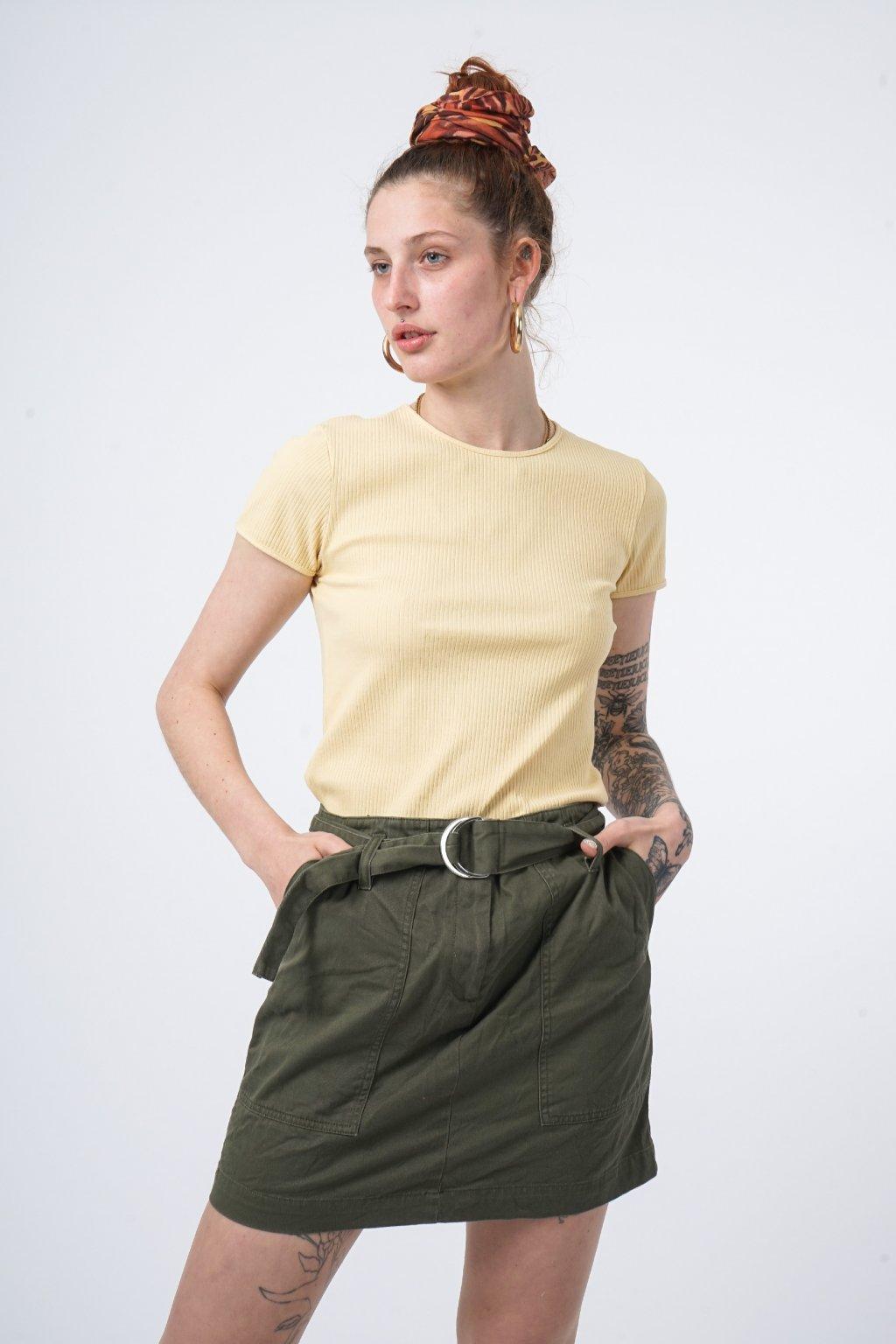 Khaki sukně