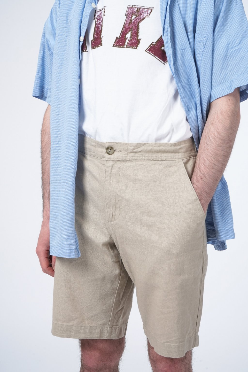 Lněné šortky