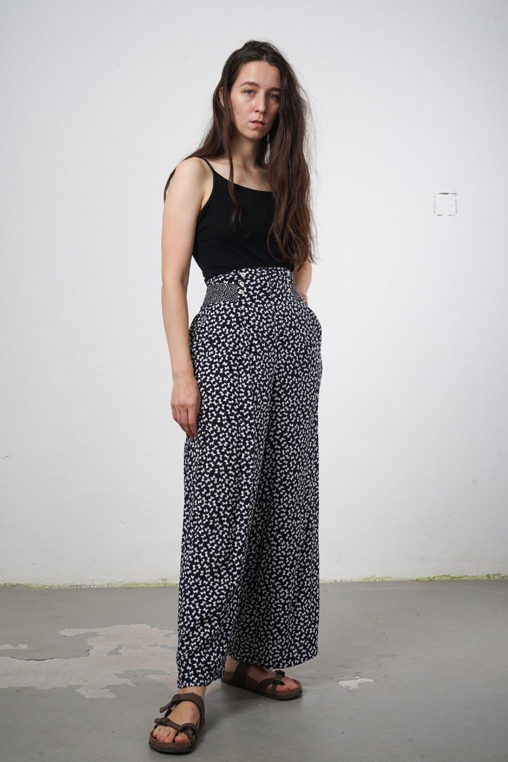 Retro kalhoty viskóza