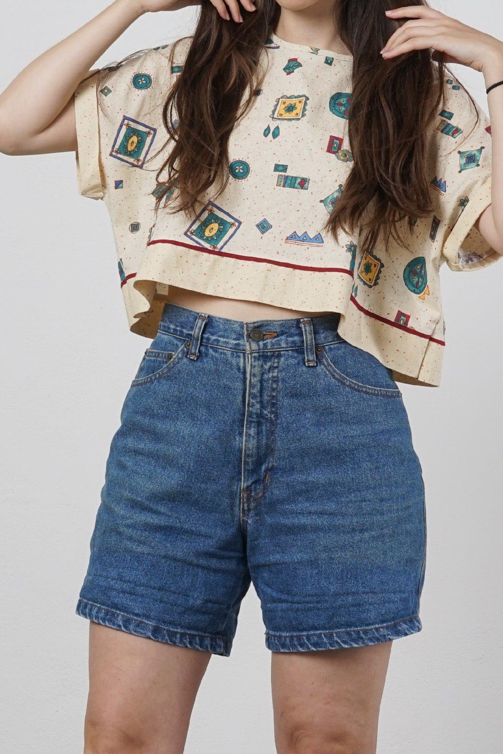 Vintage šortky s vysokým pasem