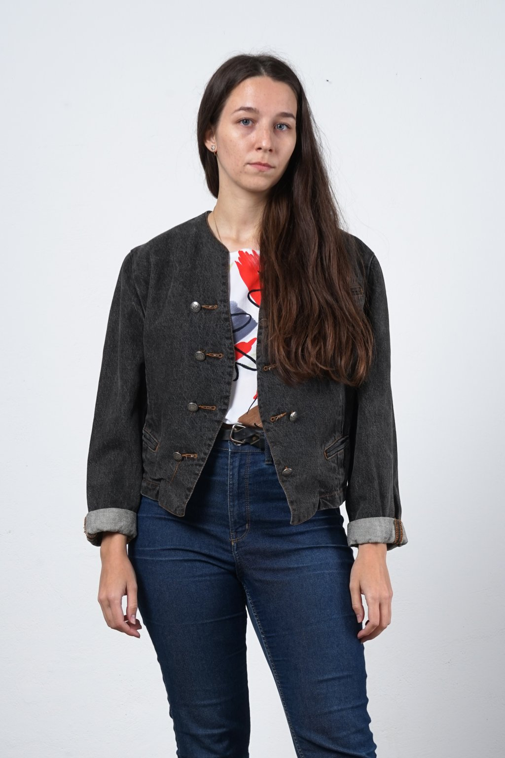 Vintage džínová bunda