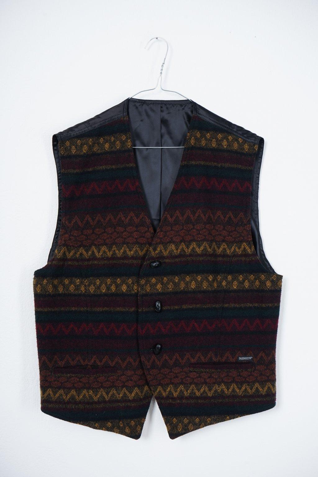 Vintage vlvněná vesta