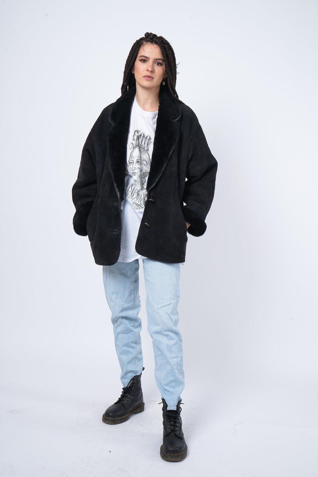 Zimní kabát kožený
