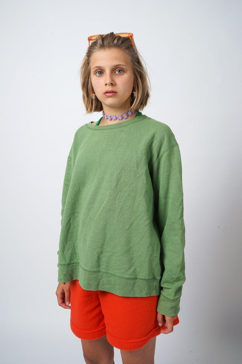 Basic mikina zelená