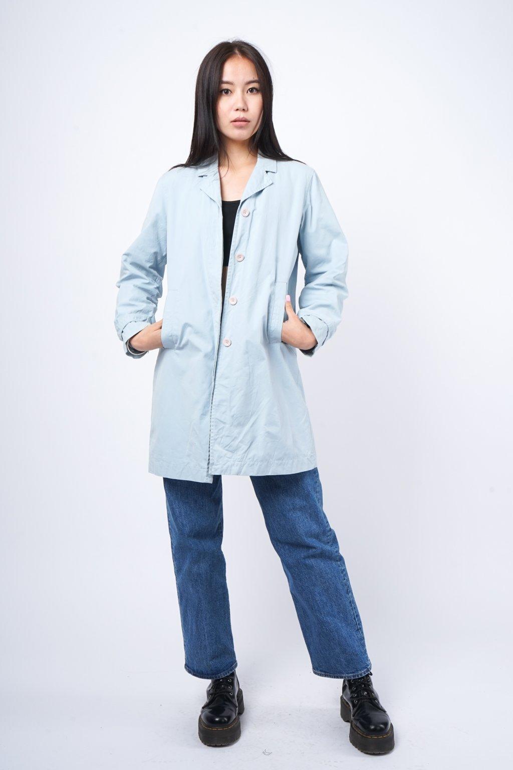 Lehký kabát modrý