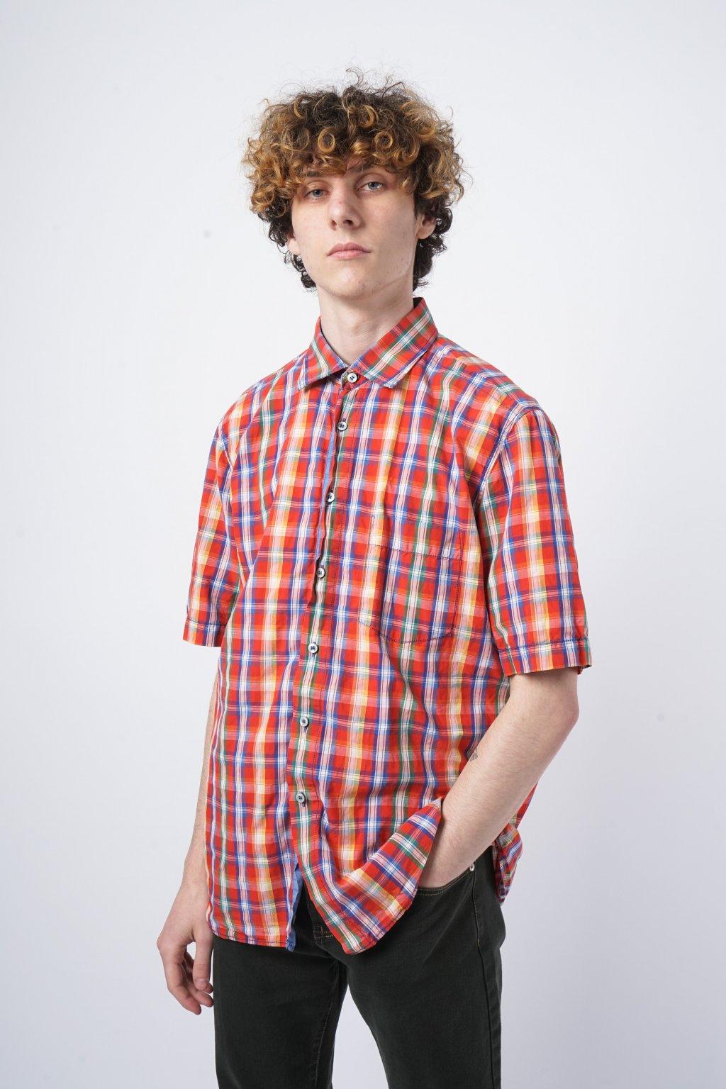 Kostkovaná košile barevná