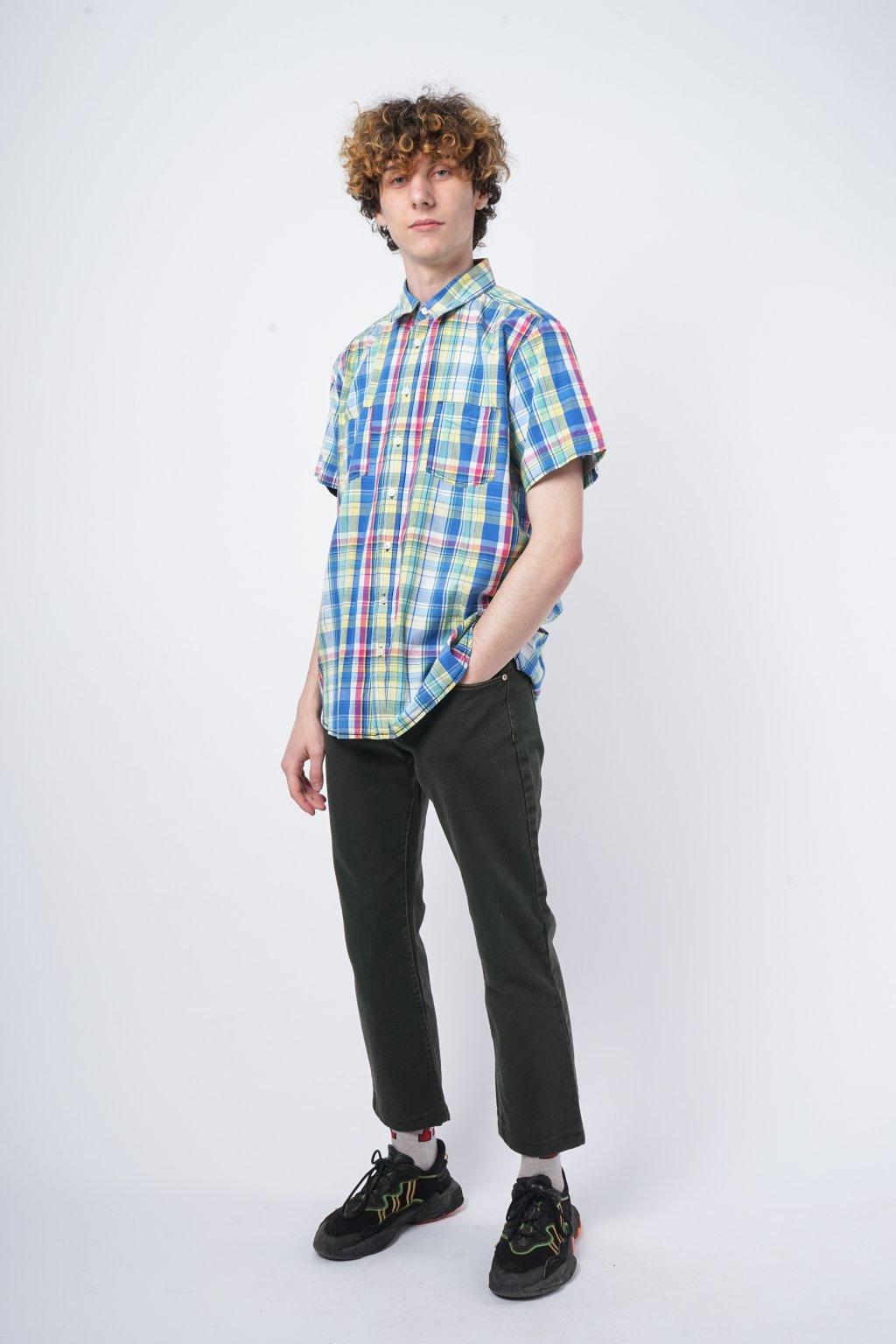 Retro košile barevná kostkovaná
