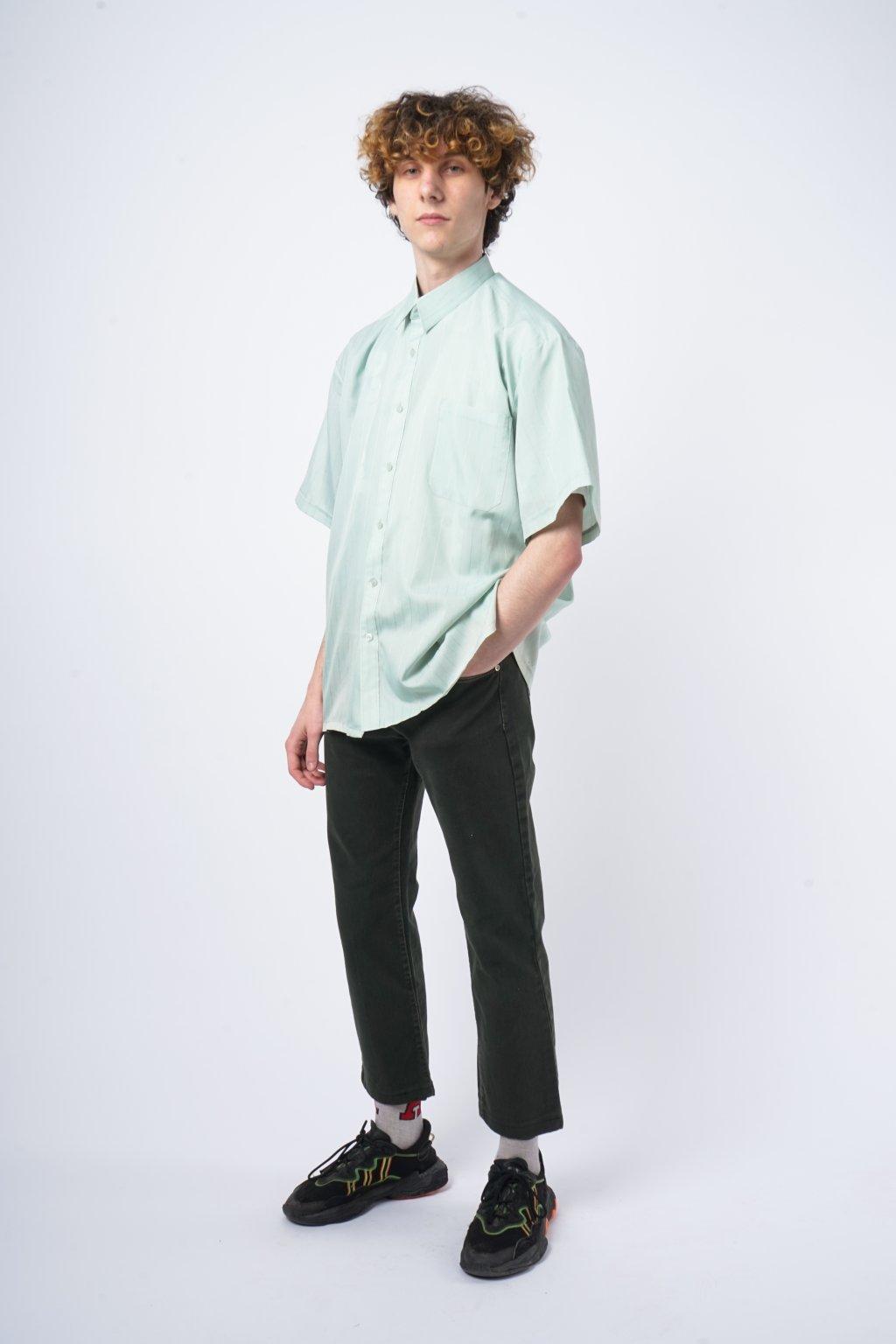Vintage košile mintová pruhovaná