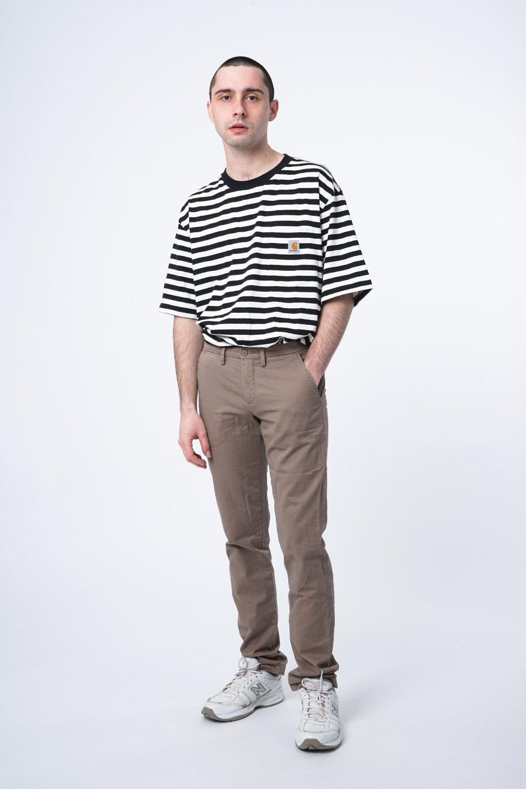 Béžové kalhoty