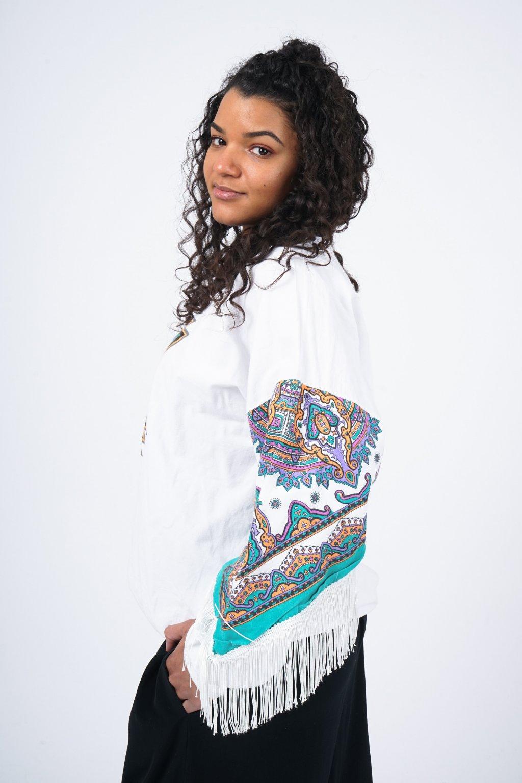Mikina s aztéckým vzorem
