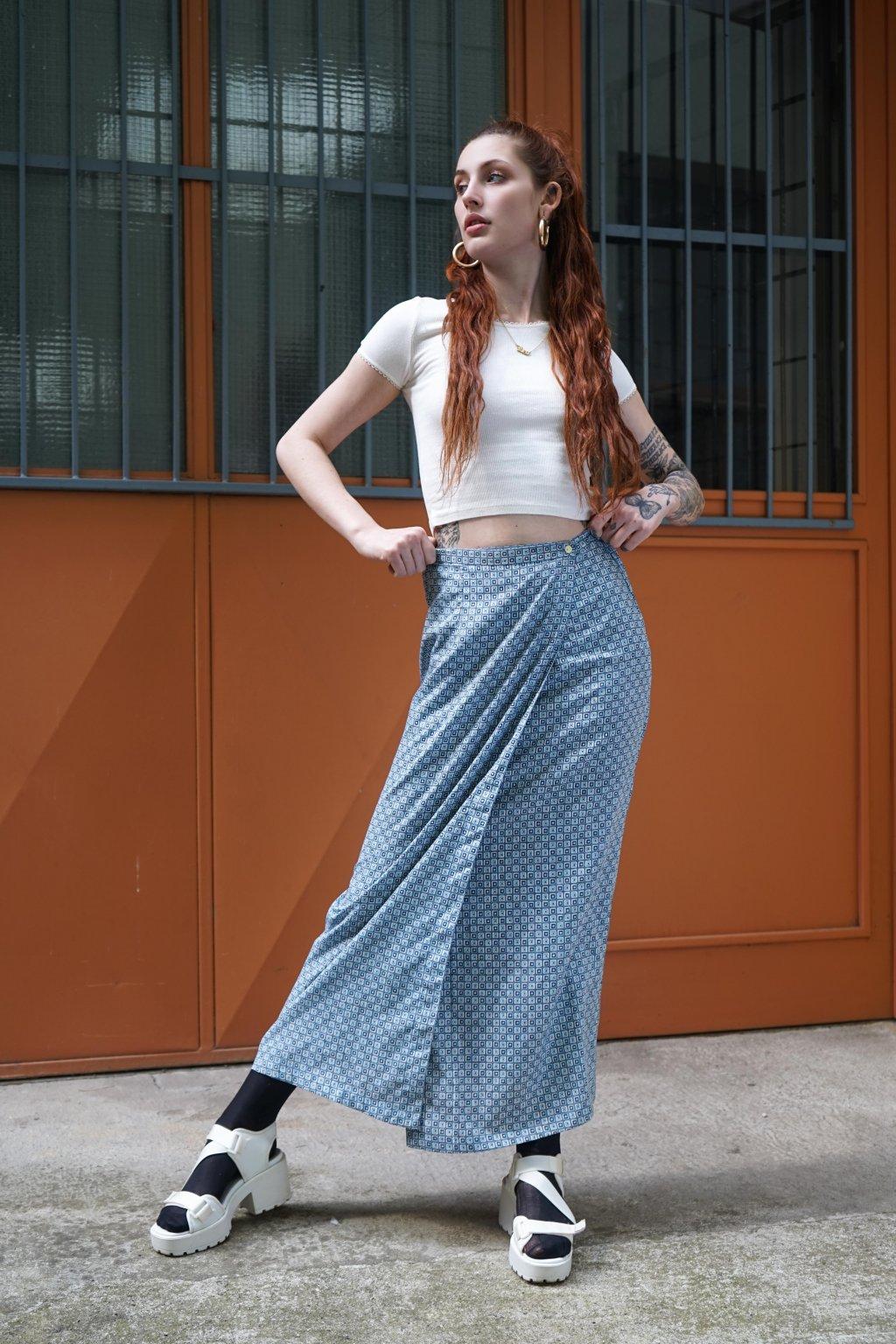 Vintage zavinovací sukně