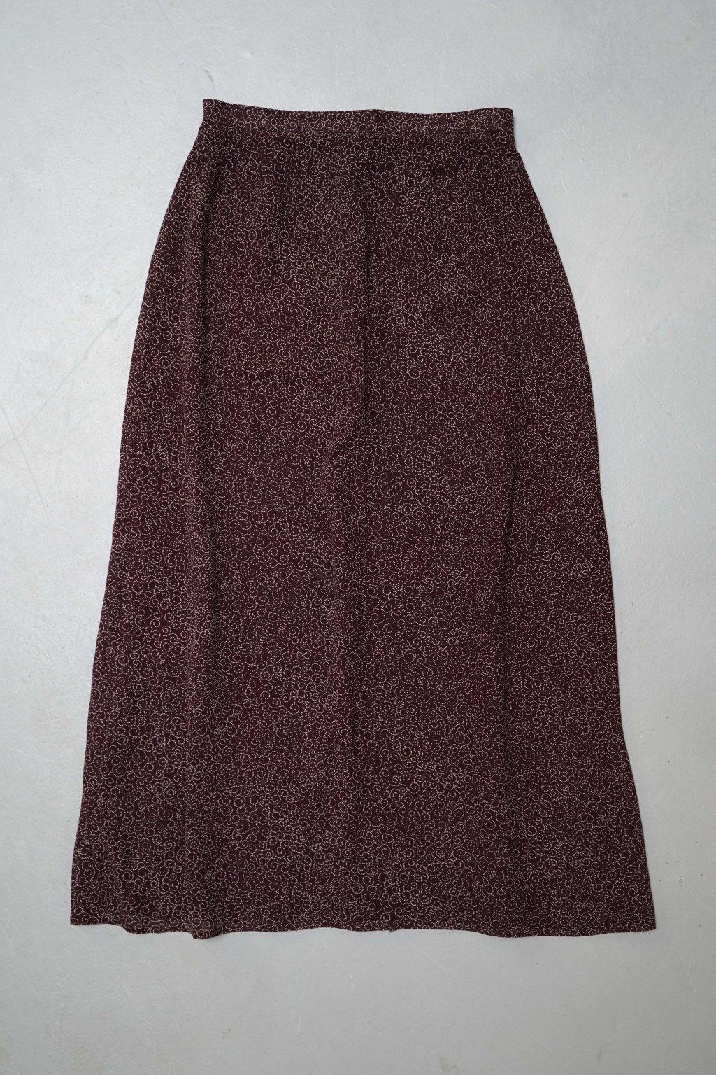 Vínová vintage sukně