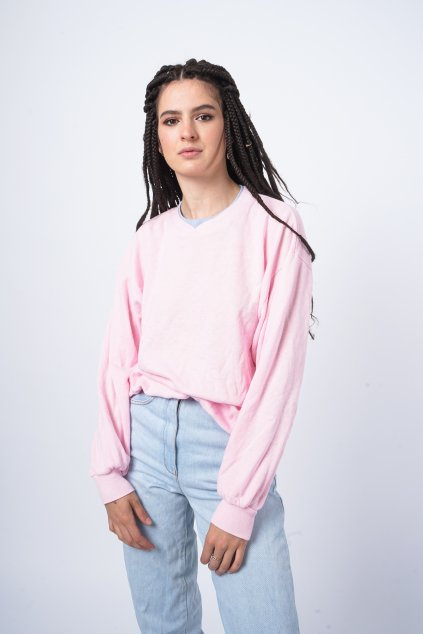 Basic mikina růžová