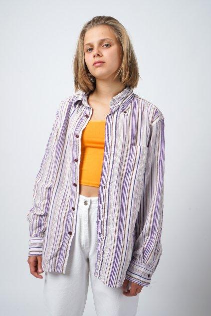 Manšestrová košile pruhovaná