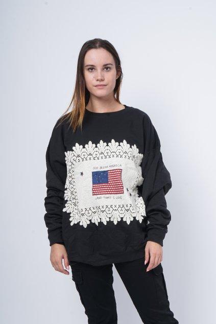 Mikina God Bless America černá