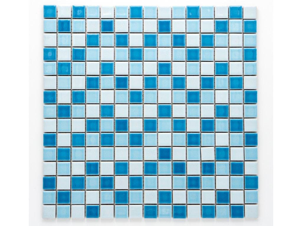 MC19 001 keramická mozaika modrá 19x19mm