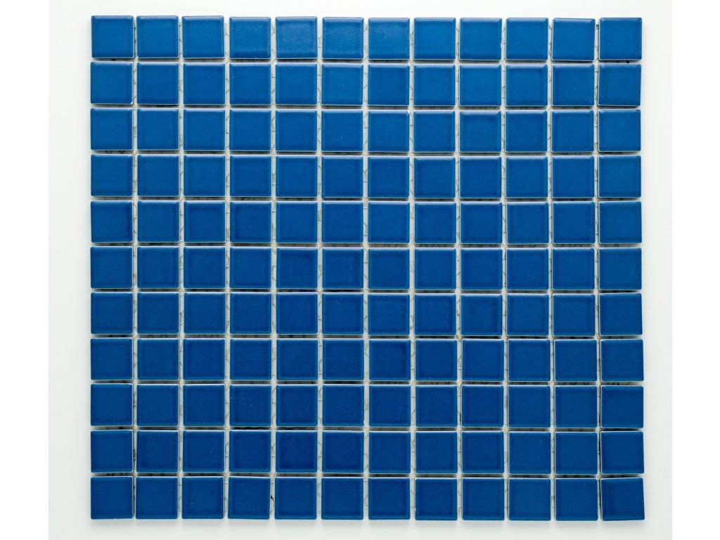 MC25 001 keramická mozaika modrá 25x25mm