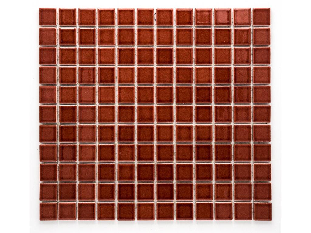 MC25 002 keramická mozaika vínová 25x25mm