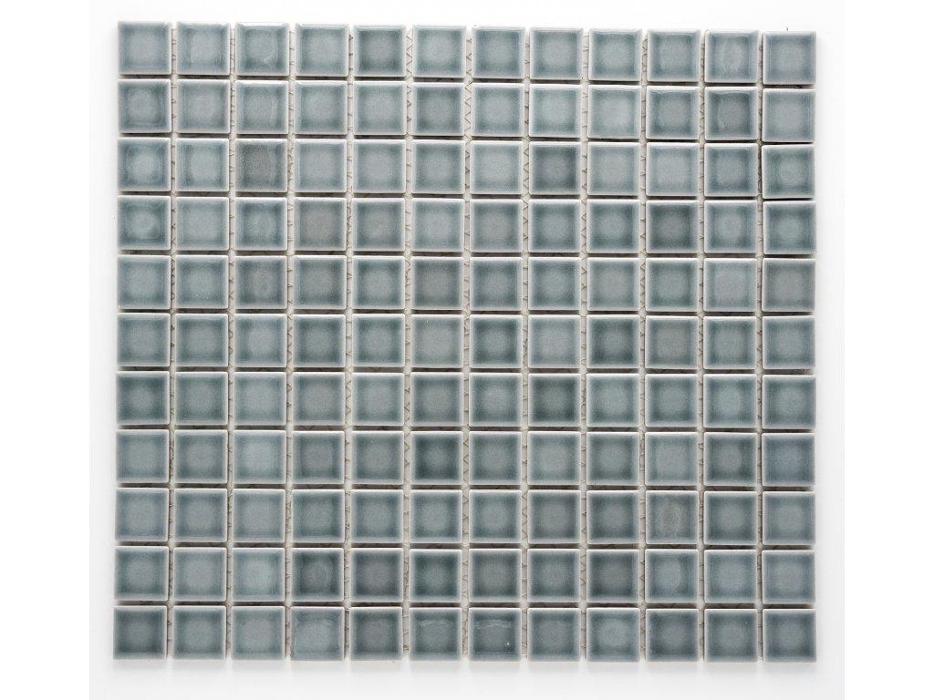 MC25 003 keramická mozaika šedá 25x25mm