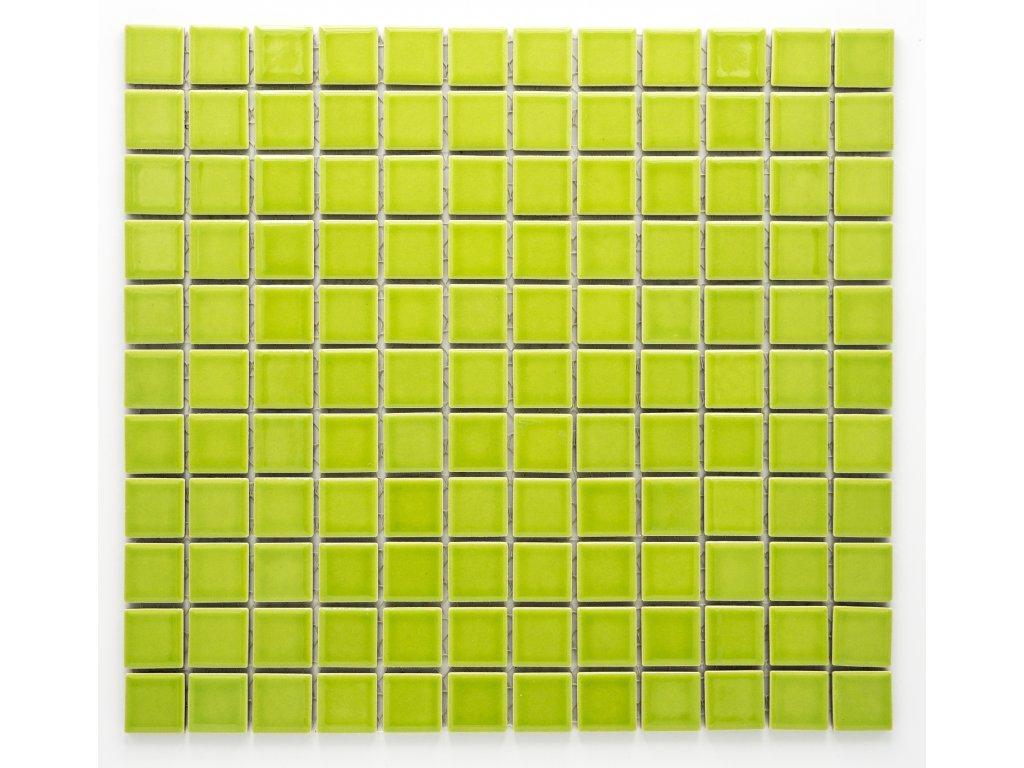 MC25 004 keramická mozaika zelená 25x25mm