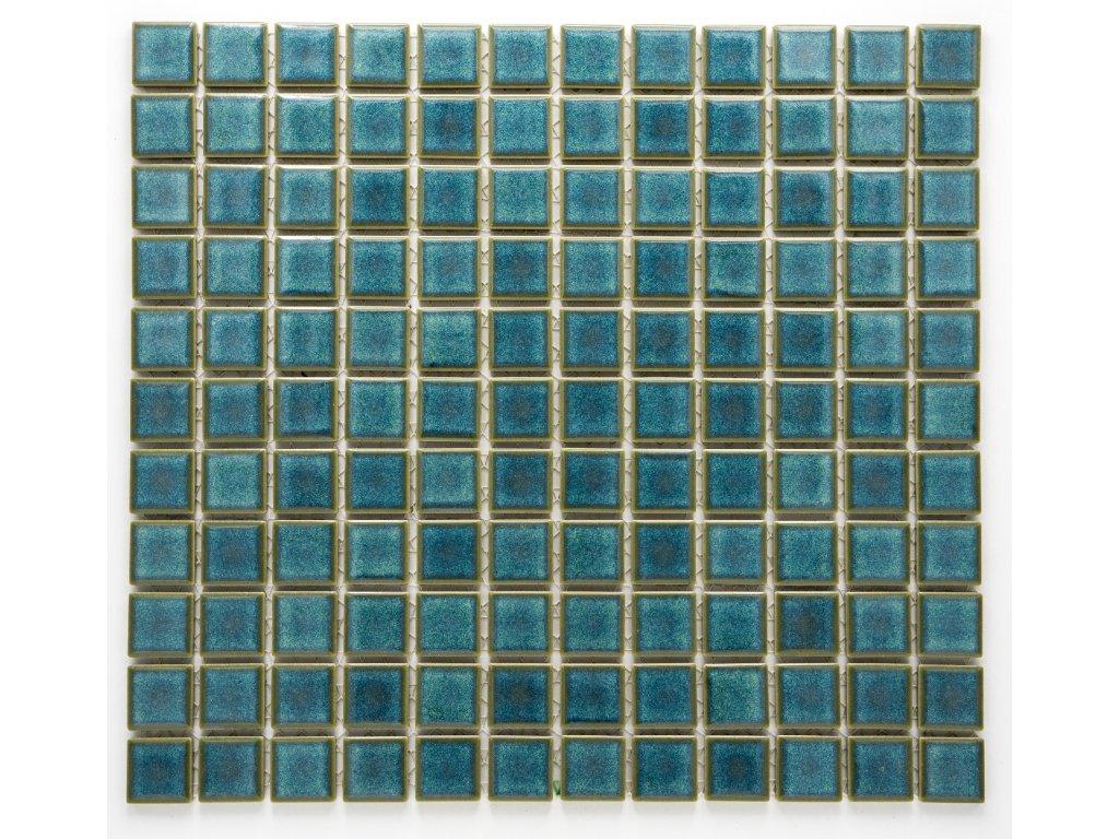 MC25 005 keramická mozaika zelená 25x25mm