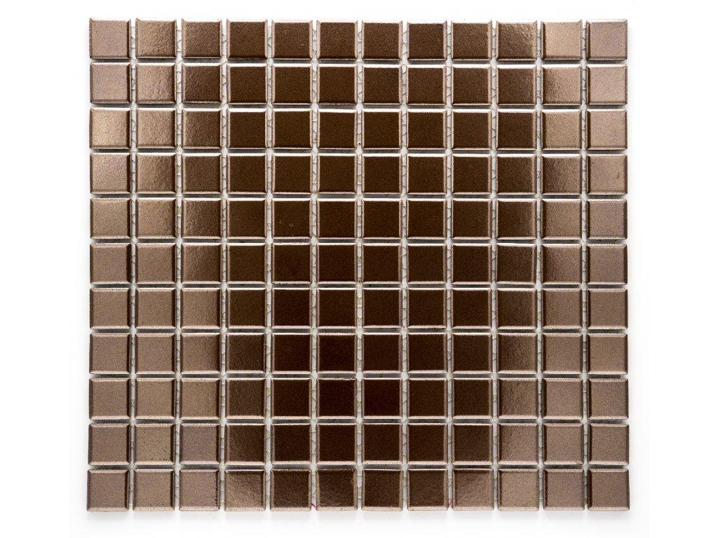 MC25 006 keramická mozaika měděná 25x25mm