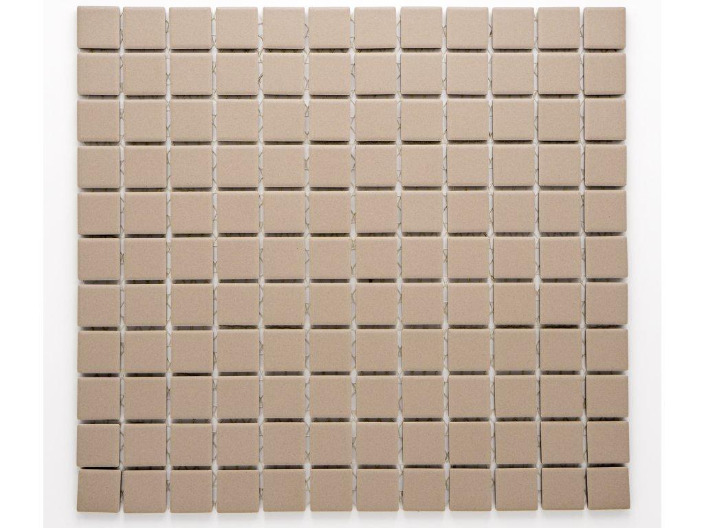 MC25 008 keramická mozaika hnědá 25x25mm