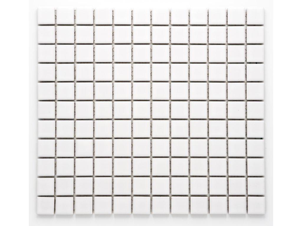 MC25 010 keramická mozaika bílá 25x25mm