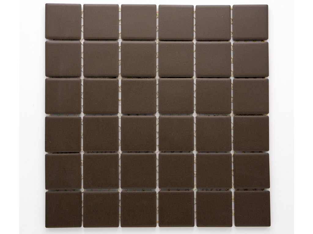 MC48 003 keramická mozaika hnědá 46,5x46,5mm
